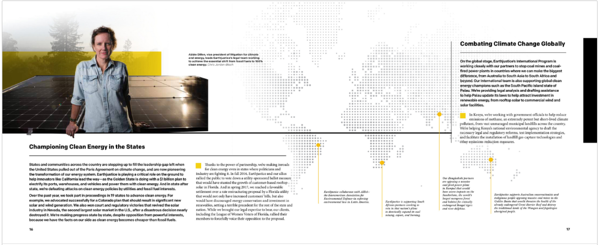 Earthjustice annual report screenshot